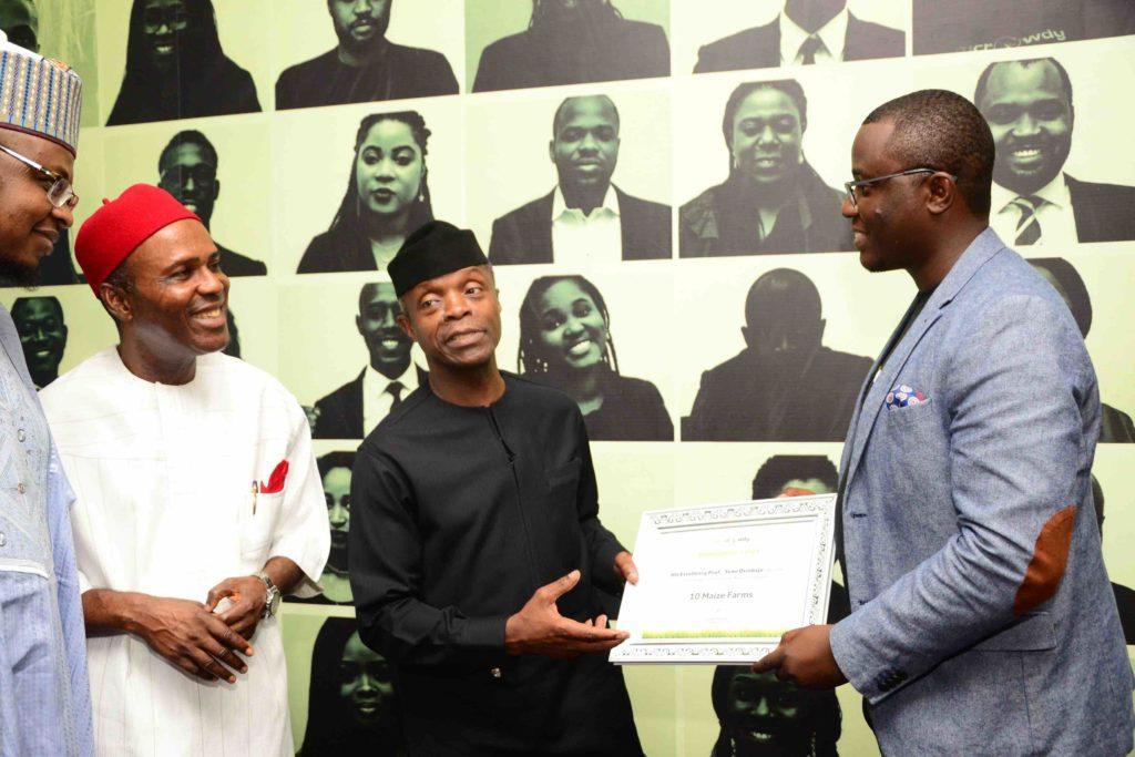 Nigerian VP visits Farmcrowdy – Greentec
