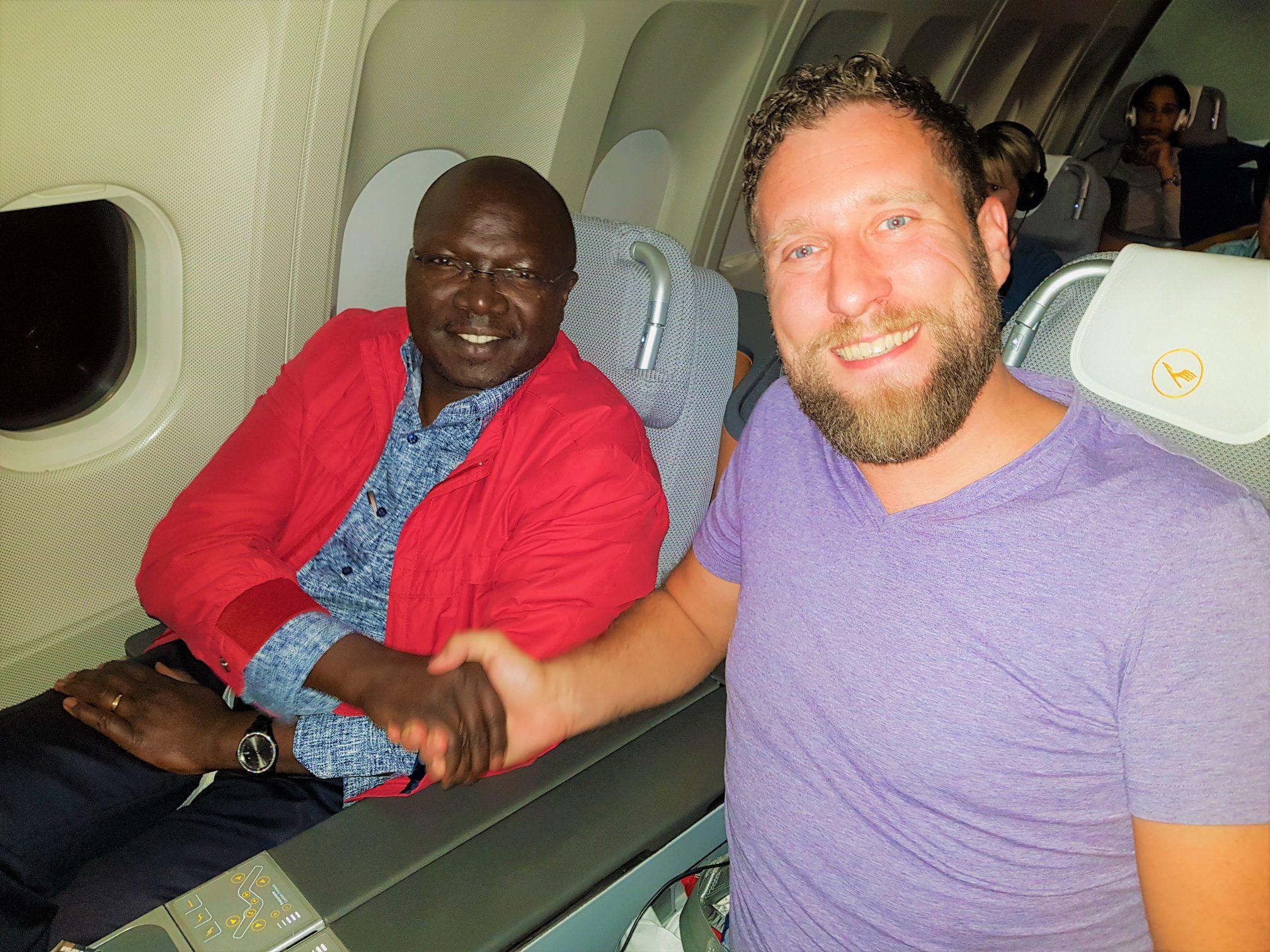 Thomas Festerling, GreenTec CFO and His Honor Simon Kiprono Khelugui, Kenya's Minister for Water and Sanitation