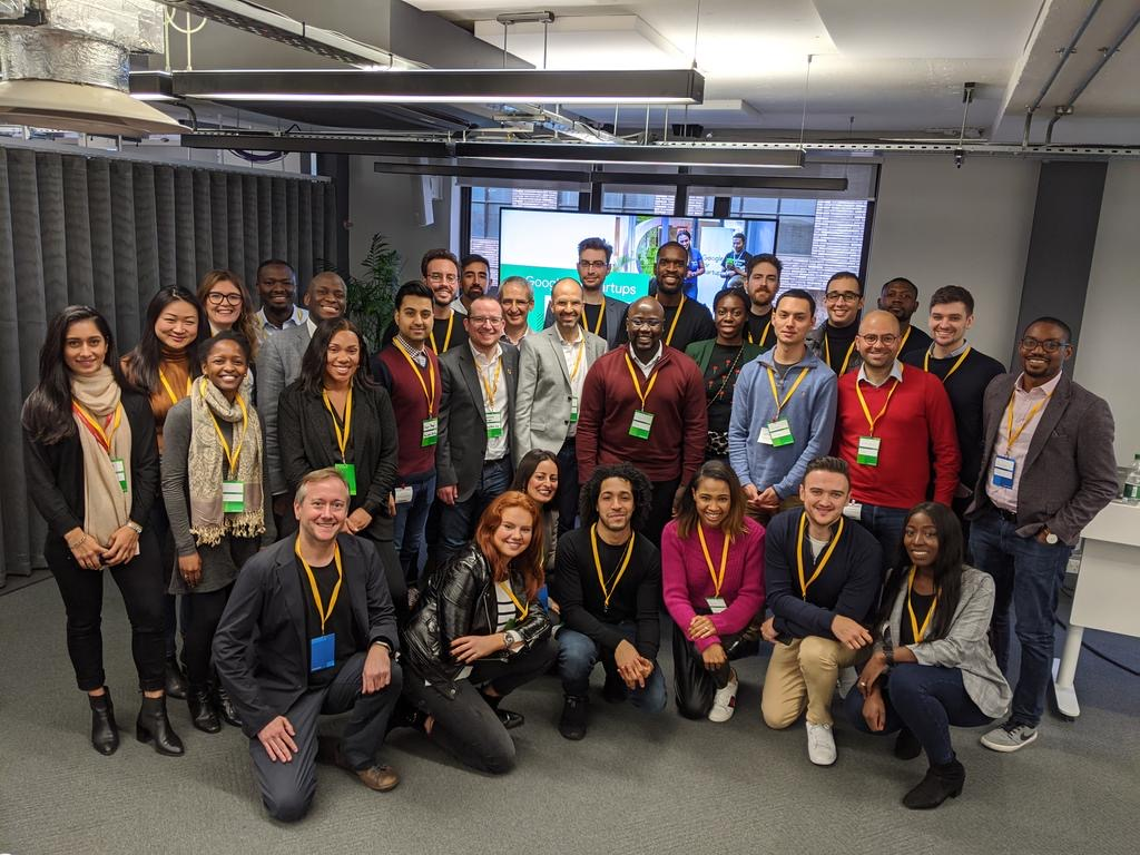 A group of attendees of Google hosted vc event