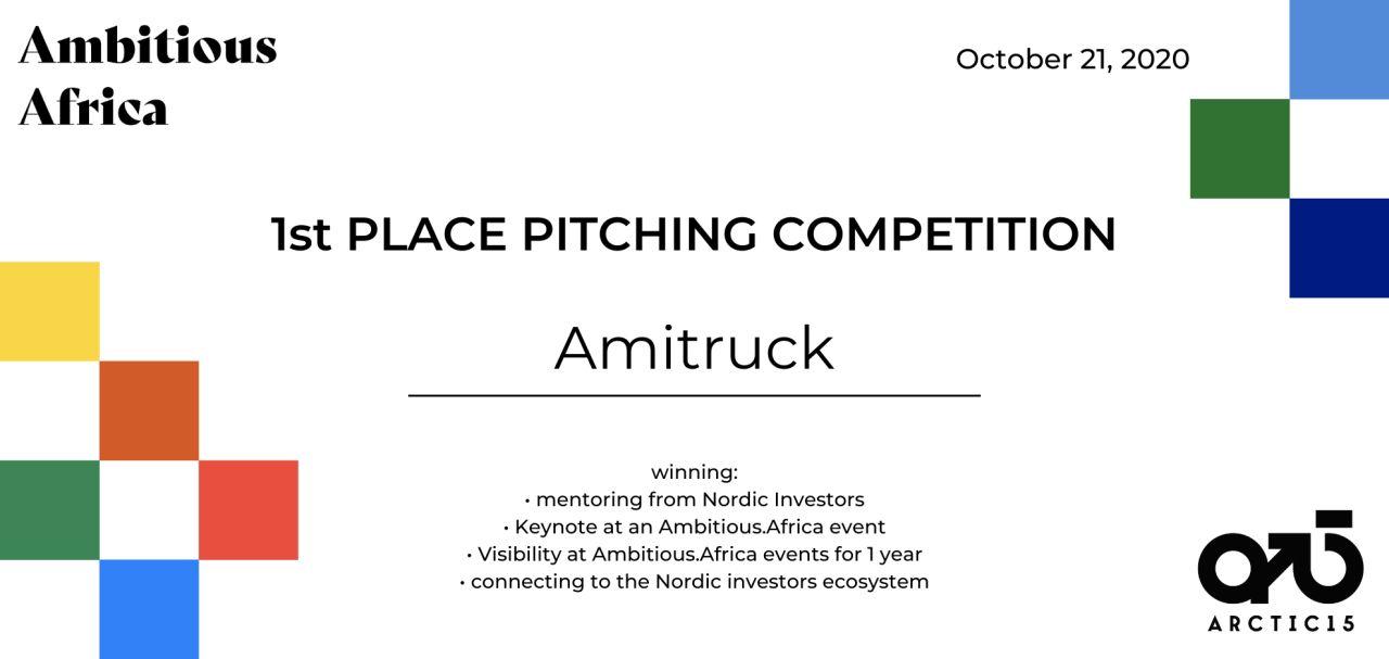 Amitruck 1st prize certificate